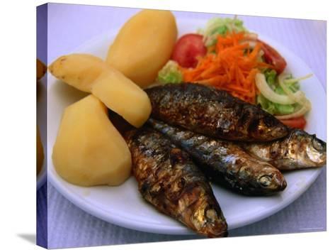 Sardinhas Gerlhadas, a Favourite Meal in Portugal, Cascais, Estremadura, Portugal-Anders Blomqvist-Stretched Canvas Print