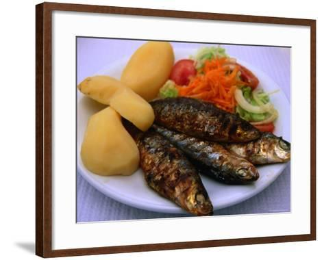 Sardinhas Gerlhadas, a Favourite Meal in Portugal, Cascais, Estremadura, Portugal-Anders Blomqvist-Framed Art Print