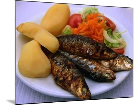Sardinhas Gerlhadas, a Favourite Meal in Portugal, Cascais, Estremadura, Portugal-Anders Blomqvist-Mounted Photographic Print