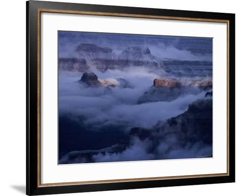 Cloudy, Winters Morning on the South Rim, Grand Canyon National Park, Arizona-Christer Fredriksson-Framed Art Print