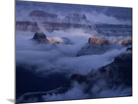 Cloudy, Winters Morning on the South Rim, Grand Canyon National Park, Arizona-Christer Fredriksson-Mounted Photographic Print