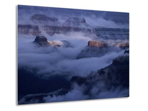 Cloudy, Winters Morning on the South Rim, Grand Canyon National Park, Arizona-Christer Fredriksson-Metal Print