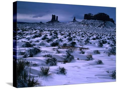 Monument Valley in Winter, Monument Valley Navajo Tribal Park, Arizona-Christer Fredriksson-Stretched Canvas Print