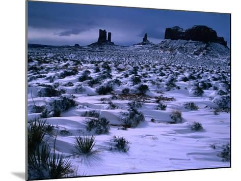 Monument Valley in Winter, Monument Valley Navajo Tribal Park, Arizona-Christer Fredriksson-Mounted Photographic Print