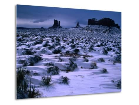 Monument Valley in Winter, Monument Valley Navajo Tribal Park, Arizona-Christer Fredriksson-Metal Print