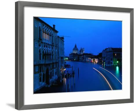 Canal from Accademia at Dusk, Venice, Italy-Christopher Groenhout-Framed Art Print