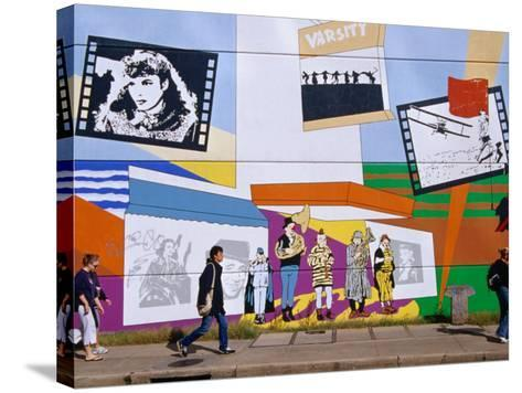 Mural on the Tower Records Building on Guadalupe Street, Austin's University Area, Austin, Texas-Richard Cummins-Stretched Canvas Print