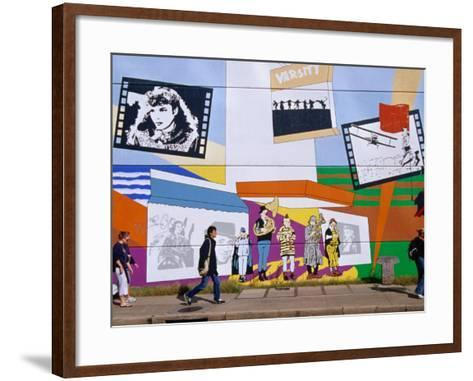 Mural on the Tower Records Building on Guadalupe Street, Austin's University Area, Austin, Texas-Richard Cummins-Framed Art Print