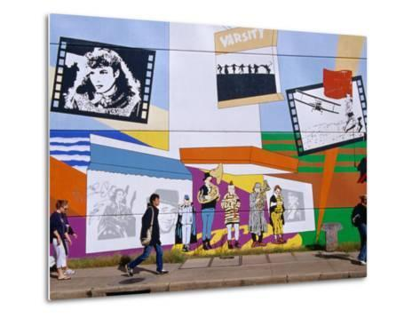 Mural on the Tower Records Building on Guadalupe Street, Austin's University Area, Austin, Texas-Richard Cummins-Metal Print