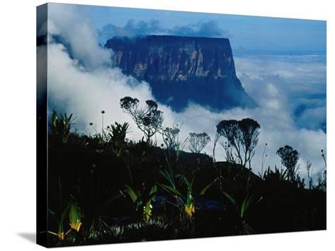 Peak of Mountain Seen through Clouds, Puerto la Cruz, Anzoategui, Venezuela-Krzysztof Dydynski-Stretched Canvas Print