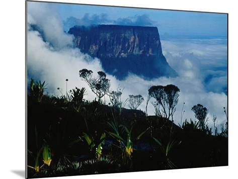 Peak of Mountain Seen through Clouds, Puerto la Cruz, Anzoategui, Venezuela-Krzysztof Dydynski-Mounted Photographic Print