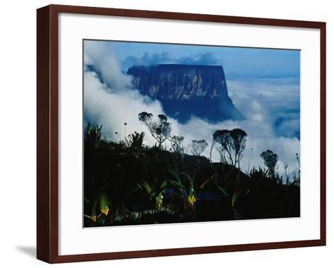 Peak of Mountain Seen through Clouds, Puerto la Cruz, Anzoategui, Venezuela-Krzysztof Dydynski-Framed Art Print