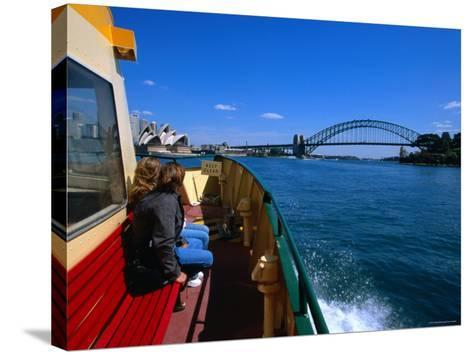 Manly Ferry Returning to the City, Sydney, New South Wales, Australia-Greg Elms-Stretched Canvas Print