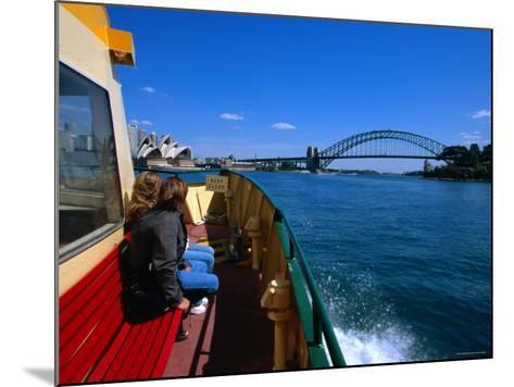 Manly Ferry Returning to the City, Sydney, New South Wales, Australia-Greg Elms-Mounted Photographic Print