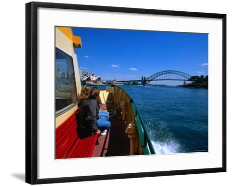 Manly Ferry Returning to the City, Sydney, New South Wales, Australia-Greg Elms-Framed Art Print