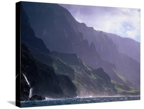 Ma Pali Coast, Kauai, Hawaii-Peter Hendrie-Stretched Canvas Print