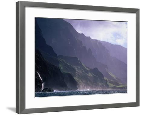 Ma Pali Coast, Kauai, Hawaii-Peter Hendrie-Framed Art Print