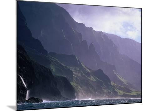 Ma Pali Coast, Kauai, Hawaii-Peter Hendrie-Mounted Photographic Print