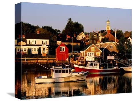 South End, Harbor and Houses, Portsmouth, New Hampshire-John Elk III-Stretched Canvas Print
