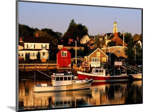 South End, Harbor and Houses, Portsmouth, New Hampshire-John Elk III-Mounted Photographic Print
