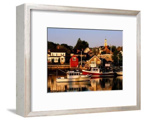 South End, Harbor and Houses, Portsmouth, New Hampshire-John Elk III-Framed Art Print