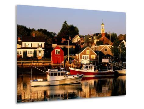 South End, Harbor and Houses, Portsmouth, New Hampshire-John Elk III-Metal Print