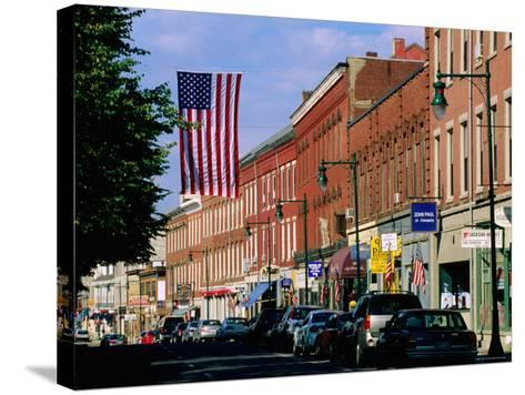 Main Street, Rockland, Maine-John Elk III-Stretched Canvas Print