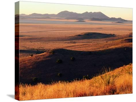 Davis Mountains State Park and Marfa Plain from Park Scenic Drive, Marfa, Texas-Witold Skrypczak-Stretched Canvas Print