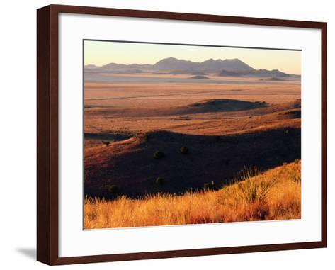 Davis Mountains State Park and Marfa Plain from Park Scenic Drive, Marfa, Texas-Witold Skrypczak-Framed Art Print