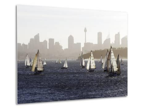 Yachts on Sydney Harbour in Late Afternoon-Oliver Strewe-Metal Print