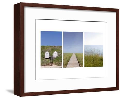 Beach Path Triptych--Framed Art Print