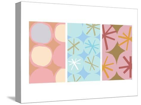 Stars and Circles Triptych--Stretched Canvas Print