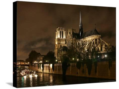 Notre Dame, Paris, France-Remy De La Mauviniere-Stretched Canvas Print