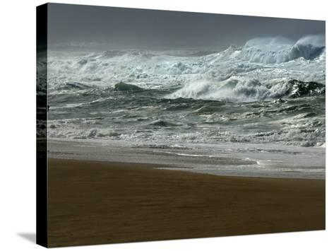 High Winds, Sunset Beach, Hawaii-Lucy Pemoni-Stretched Canvas Print