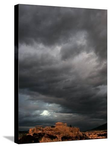 The Acropolis, Athens, Greece-Petros Giannakouris-Stretched Canvas Print