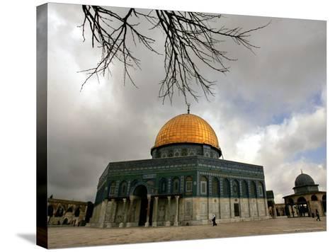Golden Dome of the Rock Mosque inside Al Aqsa Mosque, Jerusalem, Israel-Muhammed Muheisen-Stretched Canvas Print