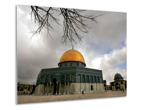 Golden Dome of the Rock Mosque inside Al Aqsa Mosque, Jerusalem, Israel-Muhammed Muheisen-Metal Print