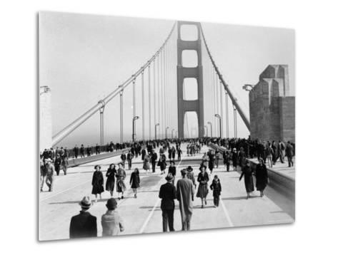 Golden Gate Opening, San Francisco, California, c.1937--Metal Print