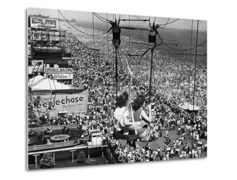 Coney Island View, New York, New York, c.1957--Metal Print