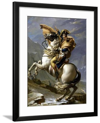 Napoleon Crossing the Alps, c.1800-Jacques-Louis David-Framed Art Print