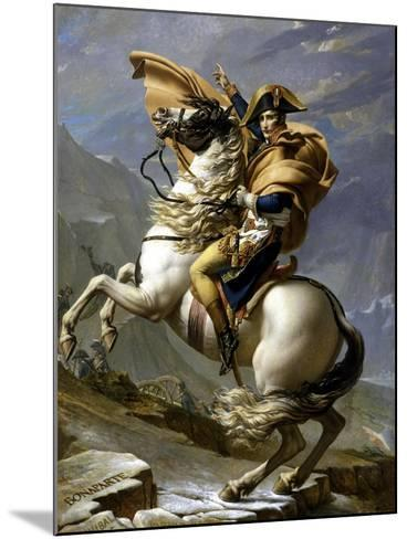 Napoleon Crossing the Alps, c.1800-Jacques-Louis David-Mounted Giclee Print