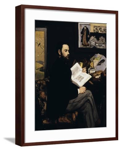 Emile Zola, c.1868-Edouard Manet-Framed Art Print