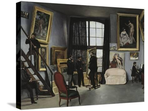 Bazille's Studio, c.1870-Frederic Bazille-Stretched Canvas Print
