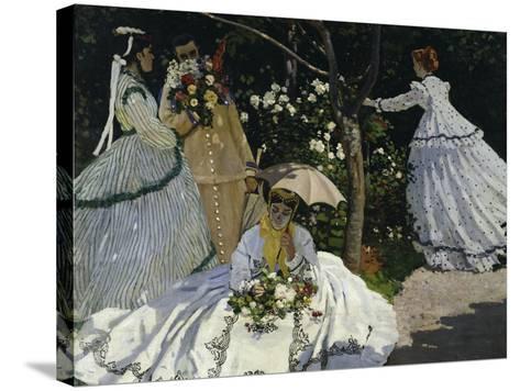 Women in the Garden, c.1867-Claude Monet-Stretched Canvas Print