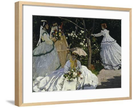 Women in the Garden, c.1867-Claude Monet-Framed Art Print