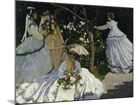 Women in the Garden, c.1867-Claude Monet-Mounted Giclee Print