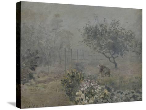 Fog in Voisins, c.1874-Alfred Sisley-Stretched Canvas Print
