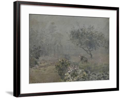 Fog in Voisins, c.1874-Alfred Sisley-Framed Art Print