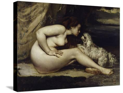 Nude with Dog, c.1861-Gustave Courbet-Stretched Canvas Print