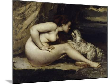 Nude with Dog, c.1861-Gustave Courbet-Mounted Giclee Print
